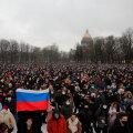 Peterburi protestiaktsioonidel osalenu: ma pole kümme aastat meeleavaldustel nii palju inimesi näinud kui täna