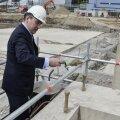 Juhan Parts käis täna Eesti Energia uuele elektrijaamale nurgakivi panemas