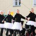 2010. aasta suvel näitasid endised Estonia baleriinid riigikogu hoovis poliitikutele, kuidas paistaks ballett hallipäiste esinejatega.