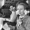 Margaret Thatcher Briti õhujõudude lennukis 1984. aasta detsembris.