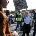 ФОТО и ВИДЕО | В Таллинне прошла акция в поддержку темнокожих жителей США