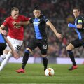 Scott McTominay midfielder of Mancheter United & Frederico Ricca defender of Club Brugge during the UEFA Europa League