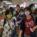 Reisijad Bangkoki lennujaamas.