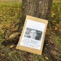 ФОТО: На площадь Вабадузе снова принесли фото напавшего на полицейских Яануса Кяэрманна
