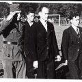 Juunipöörde tulemusena pukki pandud nn Varese valitsuse sotsiaalminister Neeme Ruus koos saatjatega saabumas Eesti–Läti jalgpallimatšile    1940. aasta 18. juulil. Hoolimata punaste võimumeeste kohalolust,kasvas spordivõistlus üle rahvuslikuks meeleavalduseks.