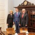 Põhja-Rein-Vestfaali liidumaa peaminister Hannelore Kraft, peaminister Taavi Rõivas ja Saksamaa välisminister Frank-Walter Steinmeier
