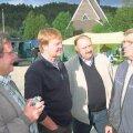 Kaarel Moisa, Jüri Vilimaa ja Olev Liblikmann Norras sõprusvallas Sirdalis koos sealse varasema volikogu esimehe Torjus Kvaeveniga 2006. aasta sügisel.