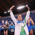 Oksana Tšusovitina teenis võistluste järel konkurentidelt tunnustavad ovatsioonid