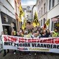 PEGIDA LIIKMED ANTWERPENIS: Islamivastane PEGIDA liikumine on leidnud Lääne-Euroopas suhteliselt suure toetuse.