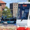 Kopli tramm Tallinna kesklinnas