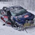 Nikolai Grjazini auto pärast avariid.