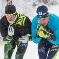 Aleksei Poltoranin ja tema treener Andrus Veerpalu.