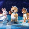 Olümpiatule puhus  lõpupeol ära jääkaru, abiks lumeleopard  ja jänes.