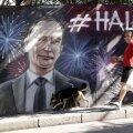 Putinit kujutav seinamaaling Jaltas