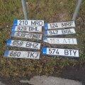 Veeuputuse järgselt kaotatud numbrimärgid Tallinnas