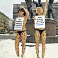 Loomade eetilist kohtlemist nõudvat aktivistid protestivad Helsingis karusnaha kasutamise vastu.