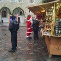 Jõuluvana vihmasel jõuluturul