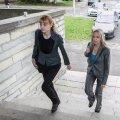 Prokurörid Inna Ombler ja Laura Feldmanis maadevahetuse kohtuistungile minemas