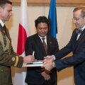 Eesti suursaadik Jaapanis Toivo Tasa korraldas Tokyos vastuvõtu president Toomas Hendrik Ilvese ja Evelin Ilvese saabumise puhul