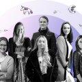 Naisasutajad Heli Valtna (vasakult), Ann Runnel, Anna-Liisa Palatu, Karen Burns, Mariana Hagström ja Mari Joller ehitavad rahvusvahelise haardega iduettevõtteid, millel on lähiaastatel potentsiaali kõvasti kasvada.