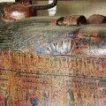 SILMAPAISTVALT KAUNIS SARK: Vaarao kirjutaja Nesupaherentahti sarkofaag (detail) 21. dünastia (1076-943 eKr) ajast.