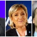 Fillon, Le Pen ja Macron