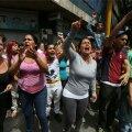 VIDEO: Venezuela presidendipalee juures nõudsid meeleavaldajad süüa
