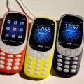 Nokia 3310 devics are displayed after their presentation ceremony at Mobile World Congress in Barcelona