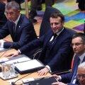 Tuumablokk: Tšehhi peaminister võttis platsi Prantsusmaa presidendi kõrvale