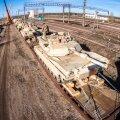 USA tankid Tapal raudteeplatvormidel