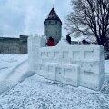 ФОТО   В Таллинне построили снежный городок