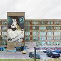 """Нанести на стену бывшего нарвского завода """"Балтиец"""" гигантское изображение не удалось — робот сломался"""