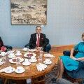 Helsingis resideeriv Iraagi Vabariigi suursaadik Matheel Dhayif Majeed Al-Sabti ja Eesti president Kersti Kaljulaid