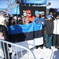 Eesti fännid koos võiduka Kelly Sildaruga.