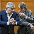 Tänane president Antonio Tajani koos David Sassoliga