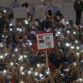 Koroonapassi vastased suvel Roomas meeleavaldusel.