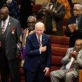 Joe Biden sai superteisipäeva hääletusel mustanahaliste suure toetuse osaliseks. Pildil Biden möödunud kuul Lõuna-Carolina baptistide kirikus