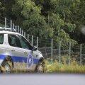 ELi piirivalveteenistuse auto Leedu-Valgevene piiril
