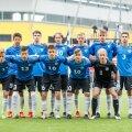 Eesti U17 koondis enne kohtumist Leedu eakaaslastega