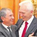 Vene oligarhid Igor Setšin (vasakul) ja Gennadi Timtšenko on loonud liidu, et murda Gazpromi ainuvõim Venemaa ja tegelikult kogu Euroopa gaasiäris.