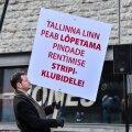 FOTOD: Vanalinna stripiklubide vastu avaldas meelt paarkümmend inimest