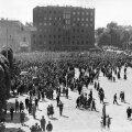 MAHA EESTI VABARIIK! 21. juuni hommikul 1940 toimus Vabaduse väljakul sovettide korraldatud miiting Eesti valitsuse kukutamiseks.