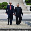 ФОТО и ВИДЕО: Трамп первым из действующих президентов США ступил на территорию Северной Кореи