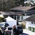 Politsei peab paari Lørenskogi kodu mõrvapaigaks ja jätkas eile sündmuspaiga uurimist.