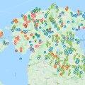 КАРТА   Приложение дает информацию о безопасных местах для катания на коньках по всей Эстонии