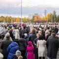 Tegusa Tallinna ja Savisaare valimisliidu promoüritus Tondiraba jäähallis