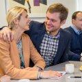 Urve Palo ja Remo Holsmer koalitsioonikõnelustel