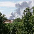 ФОТО: В Кохтла-Ярве на предприятии VKG вспыхнул пожар