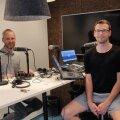Kert Toobal ja Karl Rinaldo Manta Maja stuudios.