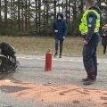Liiklusõnnetus Tallinna ringteel.